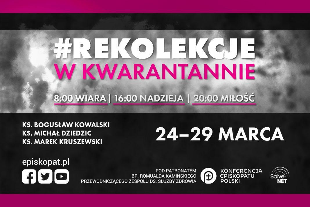 """Od 24 do 29 marca – """"Rekolekcje w kwarantannie"""""""