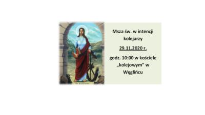 Wspomnienie św. Katarzyny Aleksandryjskiej – Święto Kolejarzy